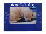 "Blue Golden Retriever 4"" x 6"" Magnetic Photo Frame (Horizontal/Landscape)"