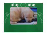 "Green Golden Retriever 4"" x 6"" Magnetic Photo Frame (Horizontal/Landscape)"