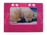 "Pink Golden Retriever 4"" x 6"" Magnetic Photo Frame (Horizontal/Landscape)"
