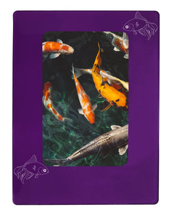 "Purple Goldfish 4"" x 6"" Magnetic Photo Frame (Vertical/Portrait)"