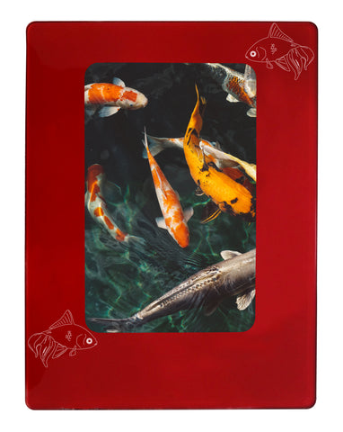 "Red Goldfish 4"" x 6"" Magnetic Photo Frame (Vertical/Portrait)"