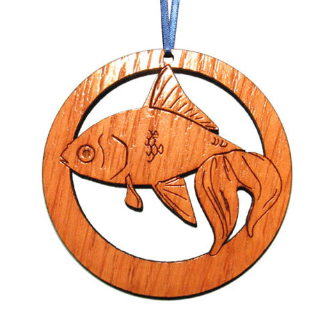4 inch Goldfish Laser-etched Ornament