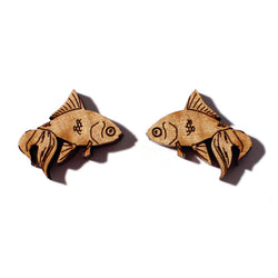Laser-cut Goldfish Earrings