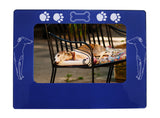 "Blue Greyhound 4"" x 6"" Magnetic Photo Frame (Horizontal/Landscape)"