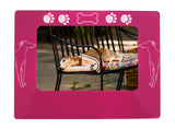"Pink Greyhound 4"" x 6"" Magnetic Photo Frame (Horizontal/Landscape)"