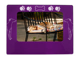 "Purple Greyhound 4"" x 6"" Magnetic Photo Frame (Horizontal/Landscape)"