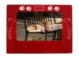 "Red Greyhound 4"" x 6"" Magnetic Photo Frame (Horizontal/Landscape)"