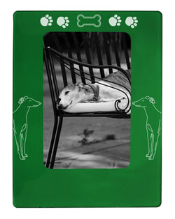 "Green Greyhound 4"" x 6"" Magnetic Photo Frame (Vertical/Portrait)"