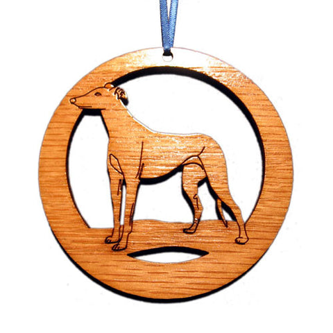 4 inch Greyhound Laser-etched Ornament