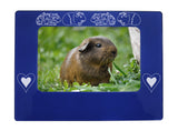 "Blue Guinea Pigs 4"" x 6"" Magnetic Photo Frame (Horizontal/Landscape)"