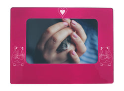 "Pink Hamster 4"" x 6"" Magnetic Photo Frame (Horizontal/Landscape)"