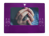 "Purple Hamster 4"" x 6"" Magnetic Photo Frame (Horizontal/Landscape)"