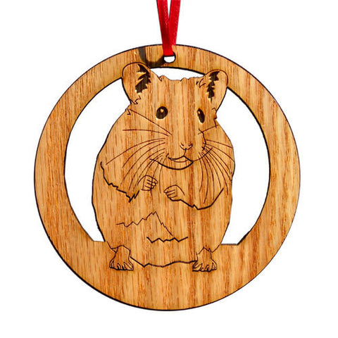 4 inch Hamster Laser-etched Ornament