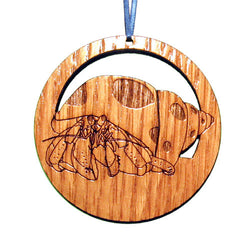 4 inch Hermit Crab Laser-etched Ornament