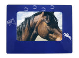 "Blue Horse 4"" x 6"" Magnetic Photo Frame (Horizontal/Landscape)"