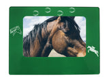 "Green Horse 4"" x 6"" Magnetic Photo Frame (Horizontal/Landscape)"