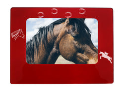 "Red Horse 4"" x 6"" Magnetic Photo Frame (Horizontal/Landscape)"