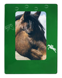 "Green Horse 4"" x 6"" Magnetic Photo Frame (Vertical/Portrait)"