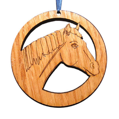 4 inch Horse Laser-etched Ornament