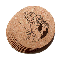 4 inch Iguana Cork Coaster Set of 6