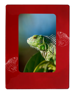 "Red Iguana 4"" x 6"" Magnetic Photo Frame (Vertical/Portrait)"