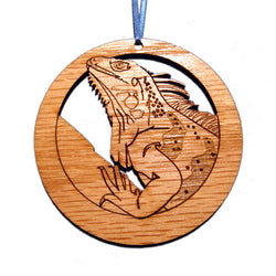 4 inch Iguana Laser-etched Ornament