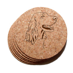 4 inch Irish Setter Cork Coaster Set of 6
