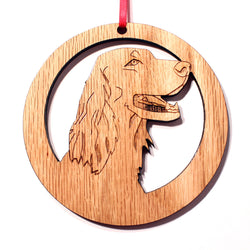 4 inch Irish Setter Dog Laser-etched Ornament