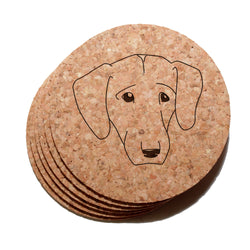 4 inch Labrador Retriever Face Cork Coaster Set of 6