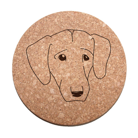 Labrador Retriever Face Cork Trivet