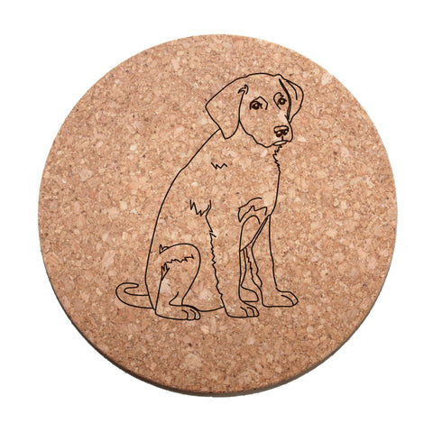 Labrador Retriever Cork Trivet