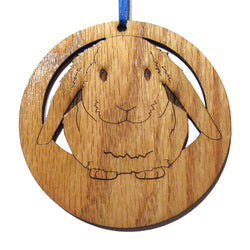 4 inch Lop Eared Rabbit Laser-etched Ornament