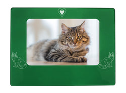 "Green Maine Coon Cat 4"" x 6"" Magnetic Photo Frame (Horizontal/Landscape)"