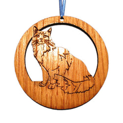4 inch Maine Coon Cat Laser-etched Ornament