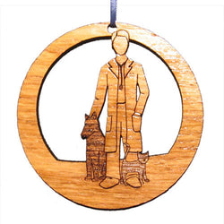 4 inch Male Veterinarian Laser-etched Ornament