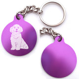 Maltese Dog Key Chain