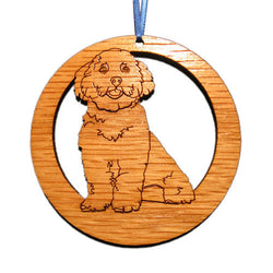 4 inch Maltese Dog Laser-etched Ornament