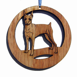 4 inch Miniature Pinscher Dog Laser-etched Ornament