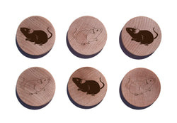 Mouse Maple Magnet Set of 6
