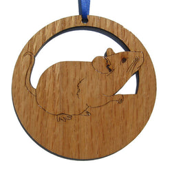 4 inch Mouse Laser-etched Ornament