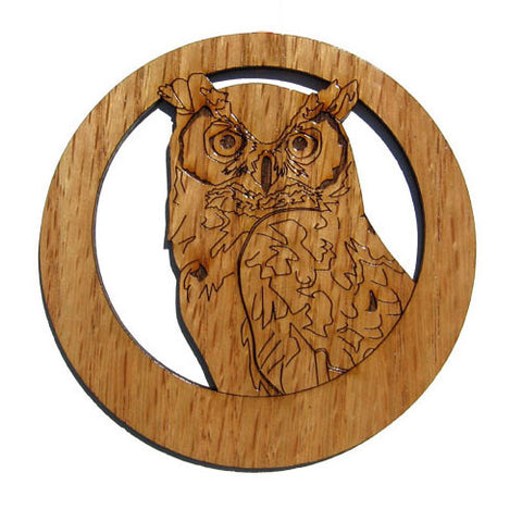 2.5 inch Great Horned Owl Magnet