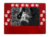 "Pawprints 4"" x 6"" Magnetic Photo Frame (Horizontal/Landscape)"