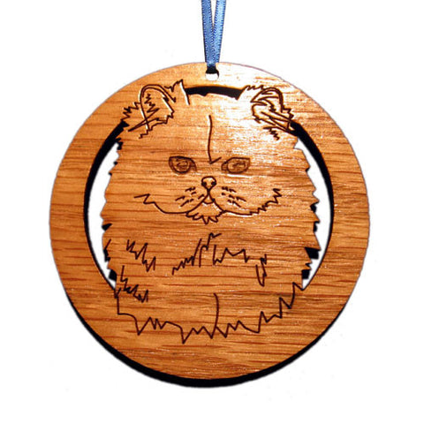 4 inch Persian Cat Laser-etched Ornament