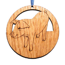 4 inch Pig Laser-etched Ornament
