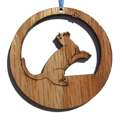 4 inch Playful Cat Laser-etched Ornament