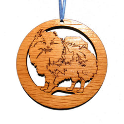 4 inch Pomeranian Dog Laser-etched Ornament