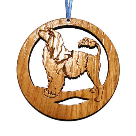 4 inch Portuguese Water Dog Laser-etched Ornament