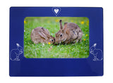 "Blue Rabbit 4"" x 6"" Magnetic Photo Frame (Horizontal/Landscape)"