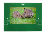 "Green Rabbit 4"" x 6"" Magnetic Photo Frame (Horizontal/Landscape)"