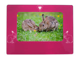 "Pink Rabbit 4"" x 6"" Magnetic Photo Frame (Horizontal/Landscape)"